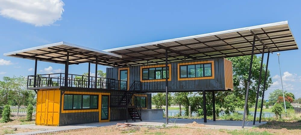 how to connect shipping containers